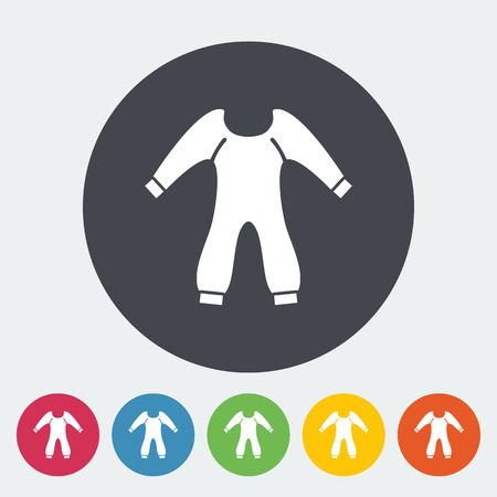 bodysuit: Baby clothes icon. Flat vector related icon for web and mobile applications. It can be used as - logo, pictogram, icon, infographic element. Vector Illustration. Illustration
