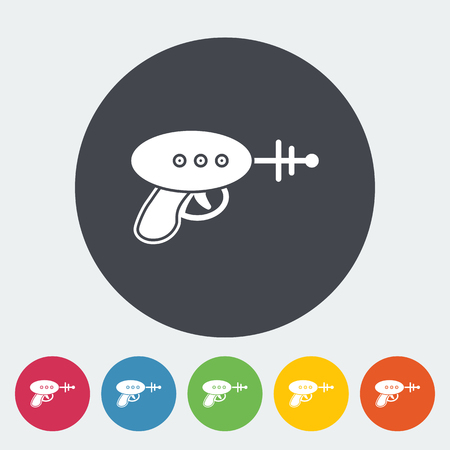 game gun: Gun toy icon. Flat vector related icon for web and mobile applications. It can be used as - logo, pictogram, icon, infographic element. Vector Illustration.