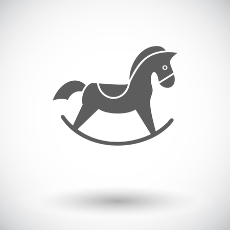 graphic icon: Horse toy icon. Flat vector related icon for web and mobile applications. It can be used as - logo, pictogram, icon, infographic element. Vector Illustration. Illustration