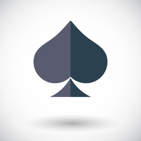 casino sign: Spades icon. Flat vector related icon for web and mobile applications. It can be used as - logo, pictogram, icon, infographic element. Vector Illustration. Illustration