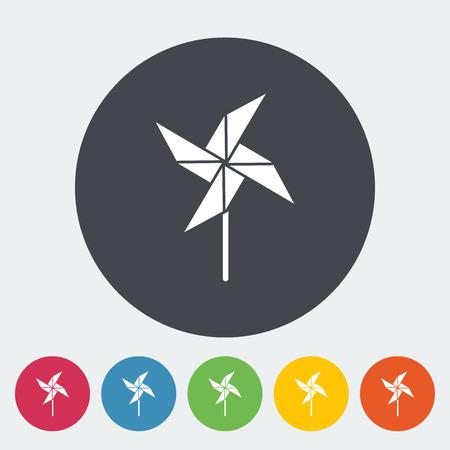 molinete: Icono de la perinola. Vector plana icono relacionado para web y aplicaciones m�viles. Se puede utilizar como - logotipo, pictograma, icono, elemento de infograf�a. Ilustraci�n del vector.