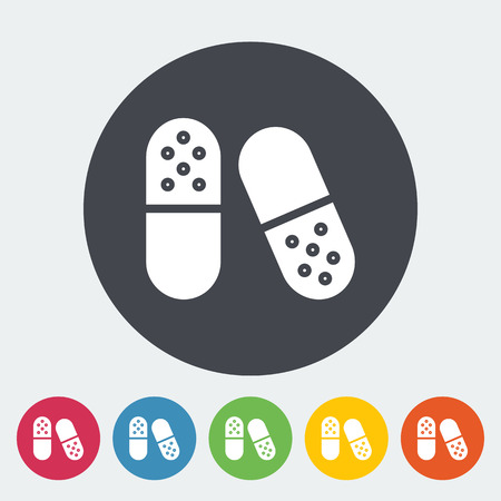 medicate: Pills icon. Flat vector related icon for web and mobile applications. It can be used as - logo, pictogram, icon, infographic element. Vector Illustration.