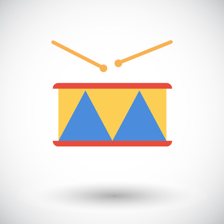drumming: Drum icon. Flat vector related icon for web and mobile applications. It can be used as - logo, pictogram, icon, infographic element. Vector Illustration. Illustration