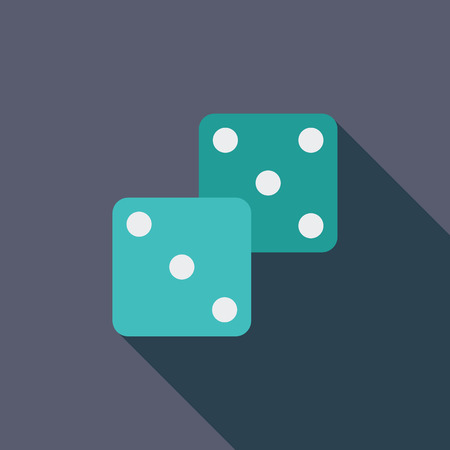 craps: Craps icon. Flat vector related icon with long shadow for web and mobile applications. It can be used as - logo, pictogram, icon, infographic element. Vector Illustration.