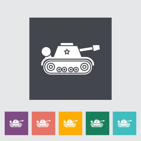 trooper: Tank toy icon. Flat vector related icon for web and mobile applications. It can be used as - logo, pictogram, icon, infographic element. Vector Illustration. Vectores