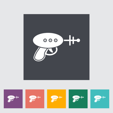 futuristic pistol: Gun toy icon. Flat vector related icon for web and mobile applications. It can be used as - logo, pictogram, icon, infographic element. Vector Illustration.