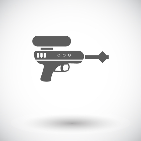 gun: Gun toy icon. Flat vector related icon for web and mobile applications. It can be used as -   pictogram, icon, infographic element. Vector Illustration. Illustration