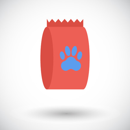 petshop: Pet food bag icon. Flat vector related icon for web and mobile applications. It can be used as -   pictogram, icon, infographic element. Vector Illustration.