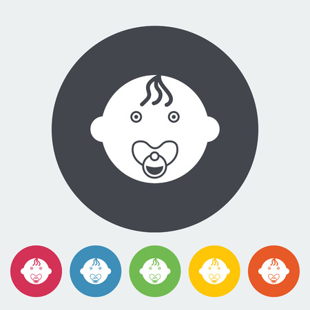 offspring: Baby boy icon. Flat vector related icon for web and mobile applications. It can be used as -   pictogram, icon, infographic element. Vector Illustration.
