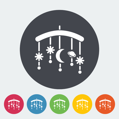 Bed carousel icon. Flat vector related icon for web and mobile applications. It can be used as -   pictogram, icon, infographic element. Vector Illustration. Illustration