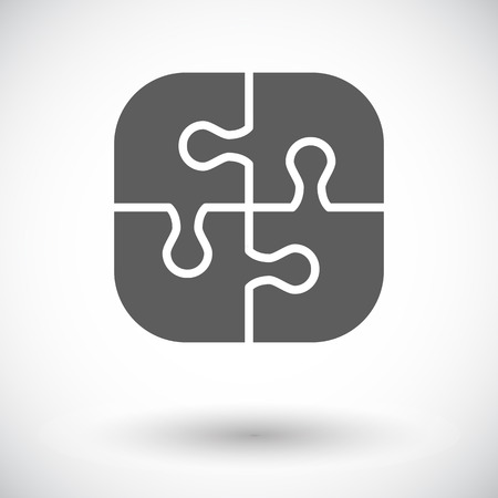 Puzzle icon. Flat vector related icon for web and mobile applications. It can be used as -  pictogram, icon, infographic element. Vector Illustration.