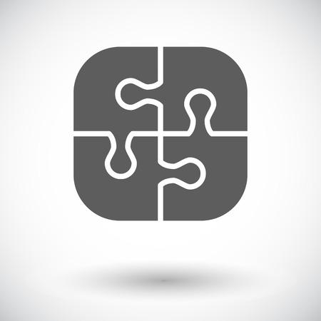 piezas de rompecabezas: Puzzle icono. Vector plana icono relacionado para web y aplicaciones móviles. Se puede utilizar como - pictograma, icono, elemento de infografía. Ilustración del vector.