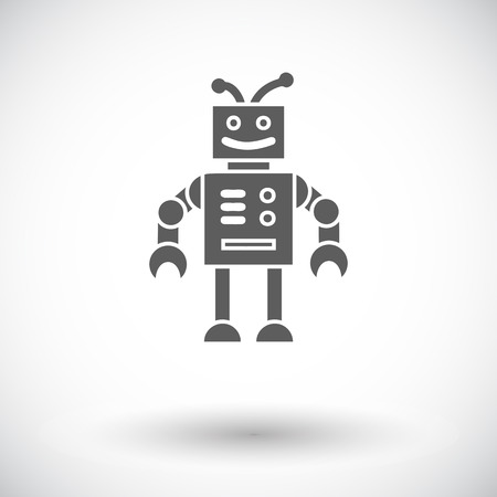 Robot toy icon. Flat vector related icon for web and mobile applications. It can be used as -  , pictogram, icon, infographic element. Vector Illustration. 일러스트