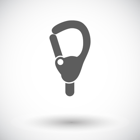karabiner: Carabiner icon. Flat vector related icon for web and mobile applications. It can be used as - pictogram, icon, infographic element. Vector Illustration. Illustration