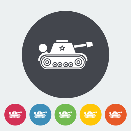 trooper: Tank toy icon. Flat vector related icon for web and mobile applications. It can be used as -   pictogram, icon, infographic element. Vector Illustration.