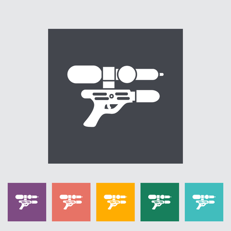 futuristic pistol: Gun toy icon. Flat vector related icon for web and mobile applications. It can be used as -   pictogram, icon, infographic element. Vector Illustration. Illustration