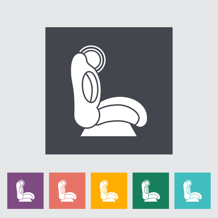 si�ge voiture: Child car seat icon. Flat vector related icon for web and mobile applications. It can be used as - logo, pictogram, icon, infographic element. Vector Illustration. Illustration