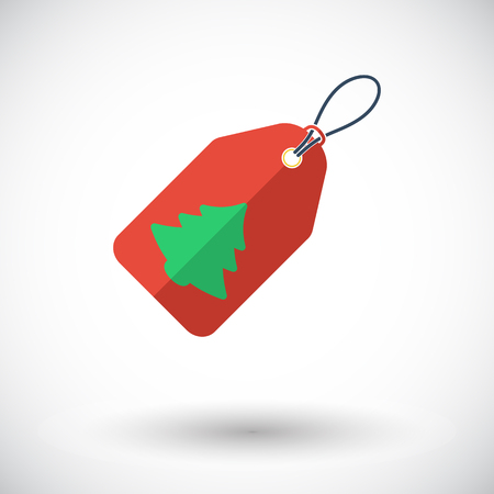 xmas star: Christmas tag icon. Flat vector related icon for web and mobile applications. Illustration