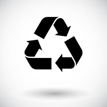 reciclar basura: Icono de reciclaje Vector