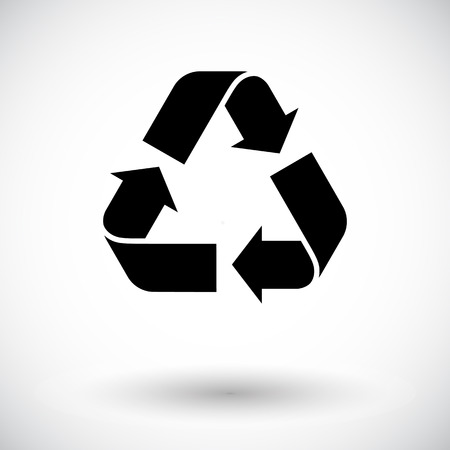 Recycle Icon Vector  Vettoriali