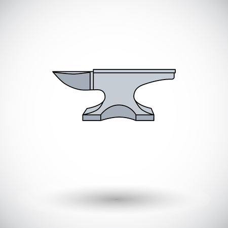 cast iron: Anvil. Single flat icon on white background. Vector illustration.
