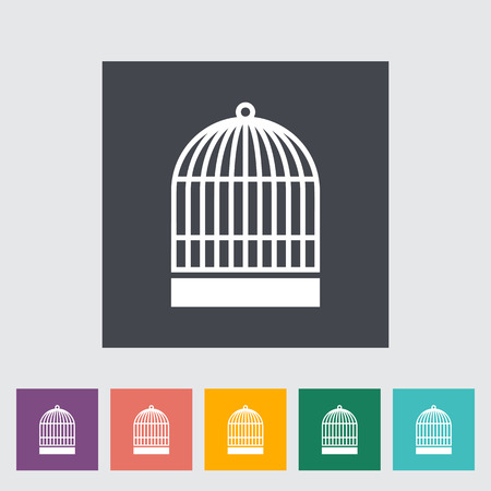 jail bird: Cage icon. Flat vector related icon for web and mobile applications. It can be used as - logo, pictogram, icon, infographic element. Vector Illustration. Illustration