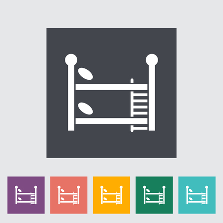 bunk bed: Bunk bed icon. Flat vector related icon for web and mobile applications. It can be used as - logo, pictogram, icon, infographic element. Vector Illustration.