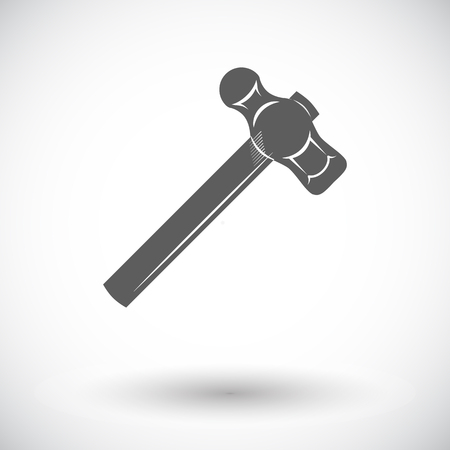 Hammer. Single flat icon on white background. Vector illustration. Illustration