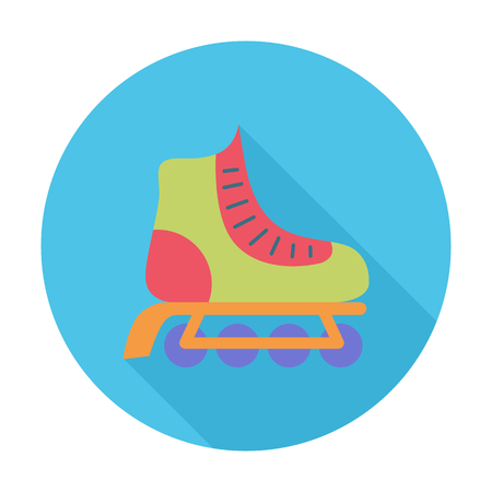 rollerskate: Roller icon. Flat vector related icon with long shadow for web and mobile applications. It can be used as - logo, pictogram, icon, infographic element. Vector Illustration.