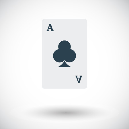 double the chances: Play card. Flat vector icon for mobile and web applications.