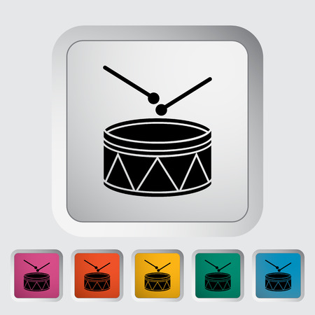 drumming: Drum icon. Flat vector related icon for web and mobile applications. It can be used as - logo, pictogram, icon, infographic element.