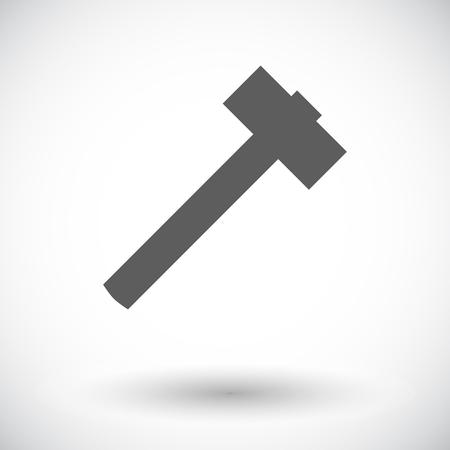 impact tool: Hammer. Single flat icon on white background. Vector illustration. Illustration