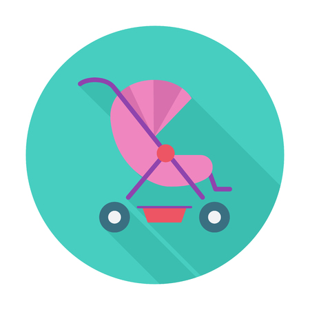 suckling: Pram icon. Flat vector related icon with long shadow for web and mobile applications. It can be used as - logo, pictogram, icon, infographic element. Vector Illustration. Illustration