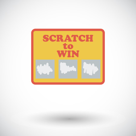 scratch card: Scratch card icon. Flat vector related icon for web and mobile applications. It can be used as - logo, pictogram, icon, infographic element. Vector Illustration.