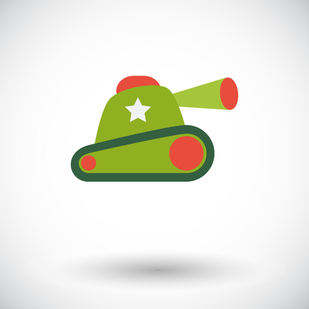 Tank toy icon. Flat vector related icon for web and mobile applications. It can be used as - logo, pictogram, icon, infographic element. Vector Illustration. Illustration
