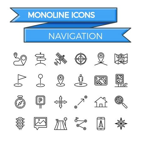 navegacion: Línea de navegación Icon Set. Navegación del icono del vector. Icono de navegación plana. Navegación imagen de icono. Icono de navegación JPEG. EPS de navegación icono. Icono de navegación JPG. Objeto de navegación icono. Vectores