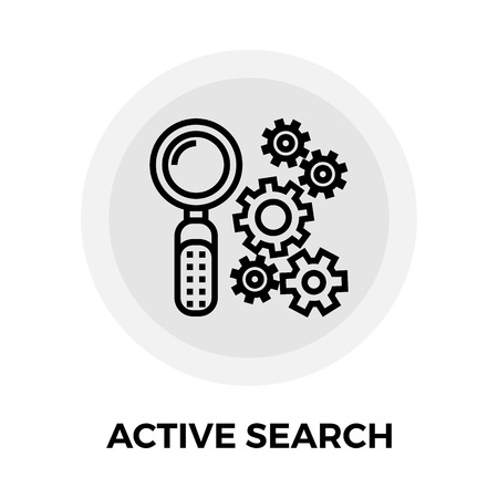 active: Active search Icon.