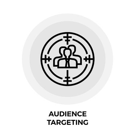 targeting: Audience Targeting Icon Illustration