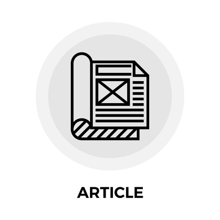 artikel Icon Vector Illustratie