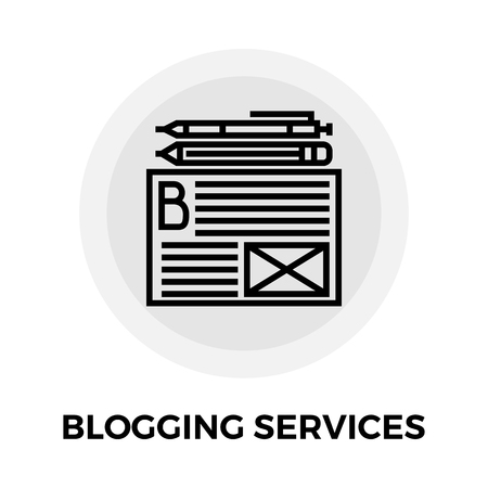 blogging: Blogging Services Services Icon Illustration
