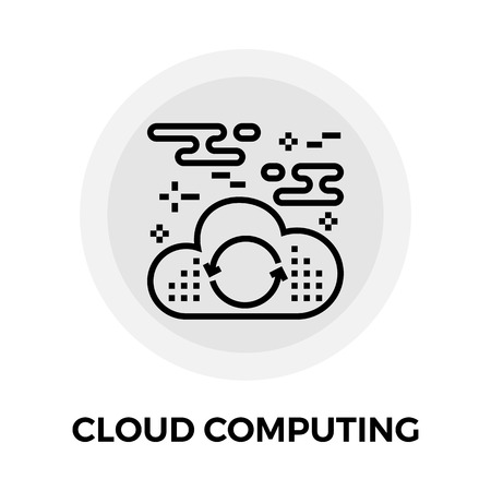 cloud computing services: Cloud Computing Services Icon