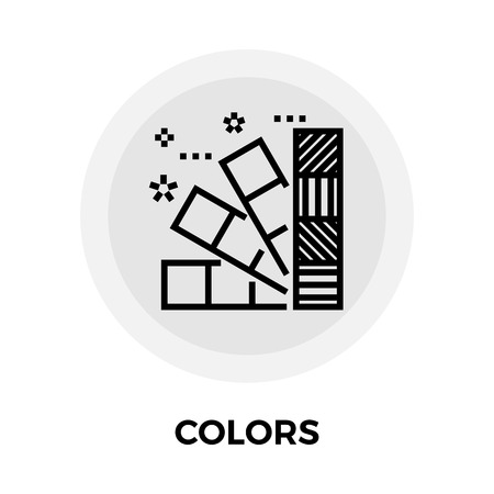 color swatch book: Colors Icon Illustration