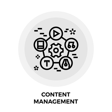 content management: Content Management Icon Illustration