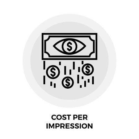 per: Cost Per Impression Icon Illustration