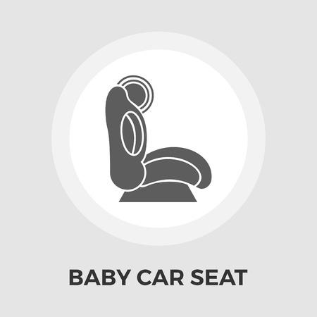 car security: Child Car Seat Illustration
