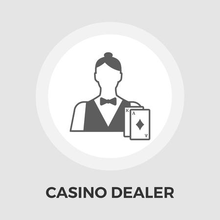 casino dealer: Casino Dealer Icon Illustration
