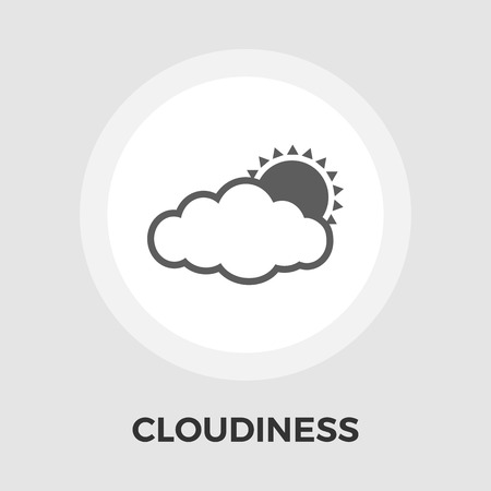 cloudiness: Cloudiness Icon Illustration