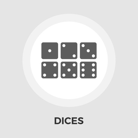 las vegas metropolitan area: Dices Icon Illustration