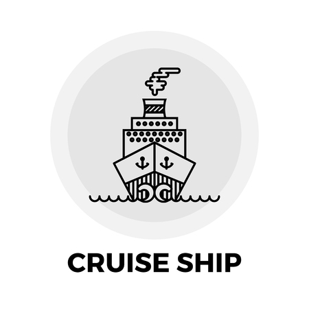 cruise ship icon: Cruise Ship Icon