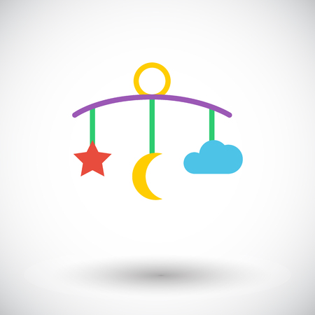 baby toys: Bed carousel icon. Flat vector related icon for web and mobile applications. It can be used as - logo, pictogram, icon, infographic element. Vector Illustration. Illustration